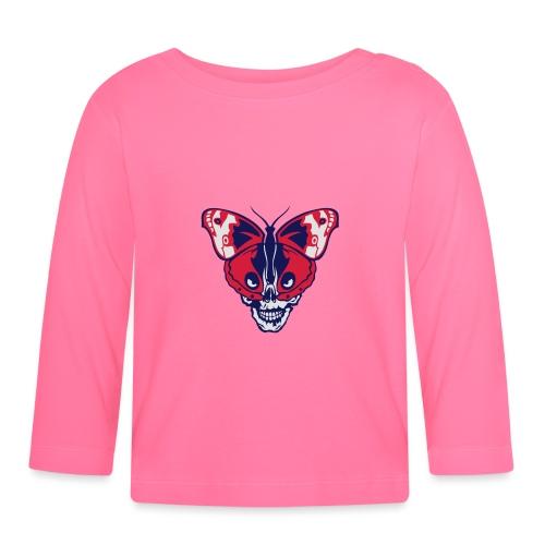 papillon butterfly tete mort skull dead - T-shirt manches longues Bébé