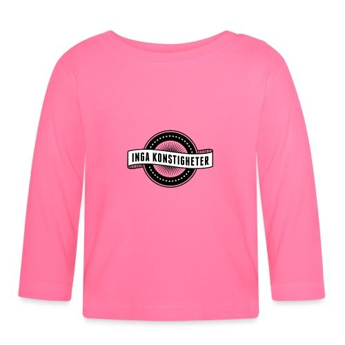 Inga Konstigheters klassiska logga (ljus) - Långärmad T-shirt baby