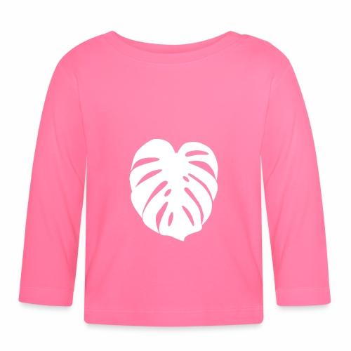 Monstera - Feuille blanche - Baby Long Sleeve T-Shirt