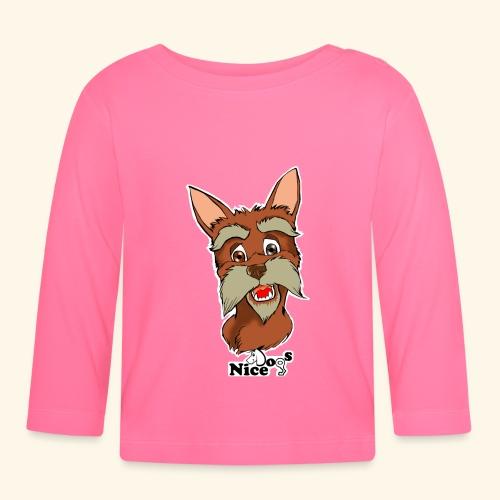 Nice Dogs schnauzer - Maglietta a manica lunga per bambini