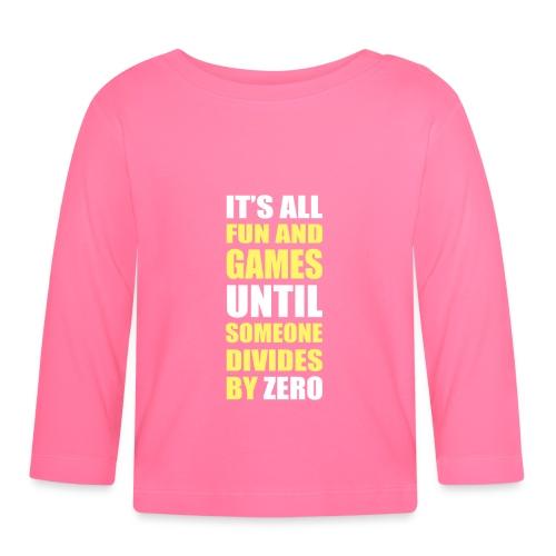 Divide by Zero - Koszulka niemowlęca z długim rękawem