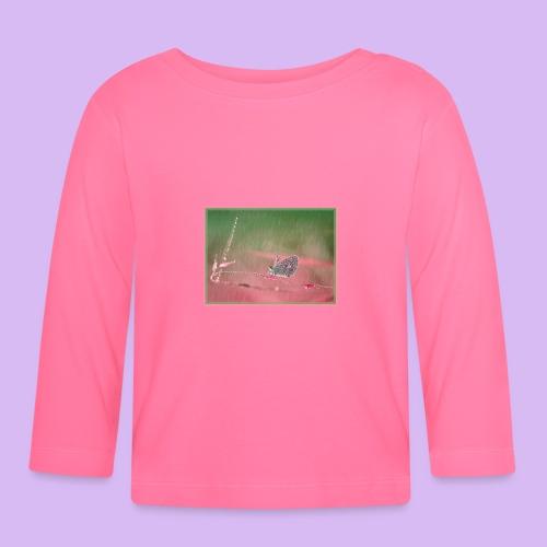 Farfalla nella pioggia leggera - Maglietta a manica lunga per bambini