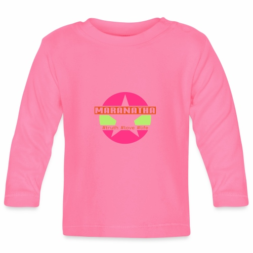 maranatha rosa-grün - Baby Langarmshirt