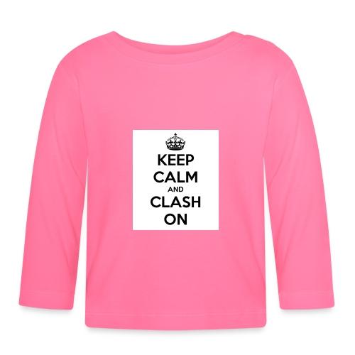 coque téléphone keep calm and clash on - T-shirt manches longues Bébé