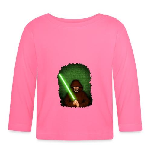 Jedi warrior with green lightsaber - Maglietta a manica lunga per bambini