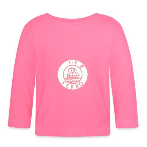 big logo Ferro pink png - Långärmad T-shirt baby