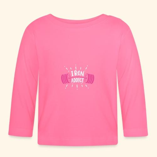 Iron Addict I VSK Funny Gym Shirt - Baby Langarmshirt