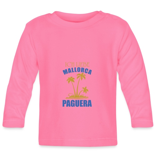 Mallorca Paguera - ich liebe Paguera - Baby Langarmshirt