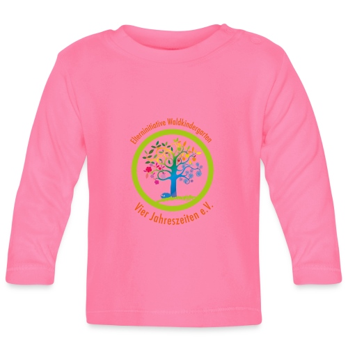 Waki Logo cmyk mitSchrift - Baby Langarmshirt