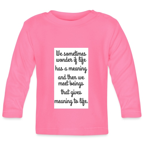 Phrase d'amour en anglais - T-shirt manches longues Bébé