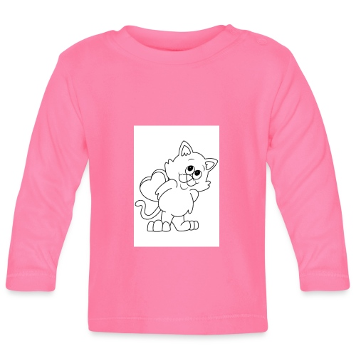 La Le Petit filon chat - T-shirt manches longues Bébé