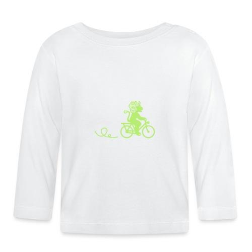 Züri-Leu beim Velofahren ohne Text - Baby Langarmshirt