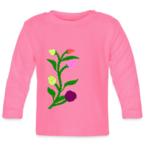 fleurs - T-shirt manches longues Bébé