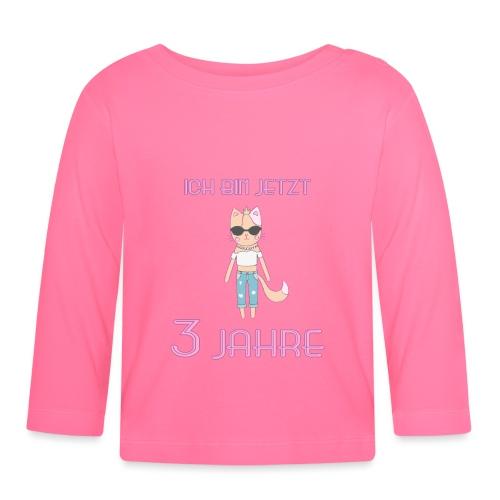 Ich bin jetzt 3 Jahre / Geschenk zum 3. Geburtstag - Baby Langarmshirt
