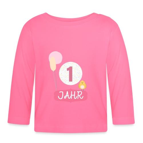 1 Jahr. Das Geburtstag T-Shirt zum 1. Geburtstag. - Baby Langarmshirt