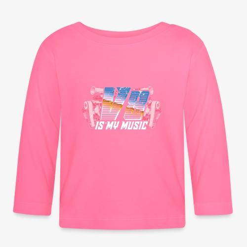 V8 Is my Music, TShirt, Auto Tuning, Musik, Retro - Baby Langarmshirt