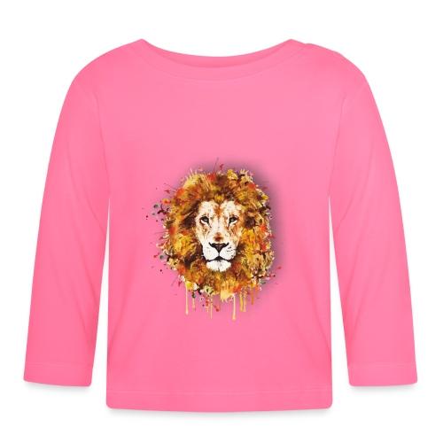 Lion Art - Lion of Judah - Rastafari - Reggae - - Baby Langarmshirt