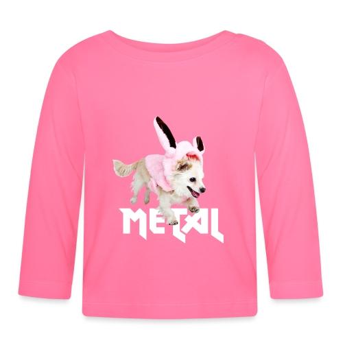 Lustiges Metal Chihuahua Hasen Design - Baby Langarmshirt