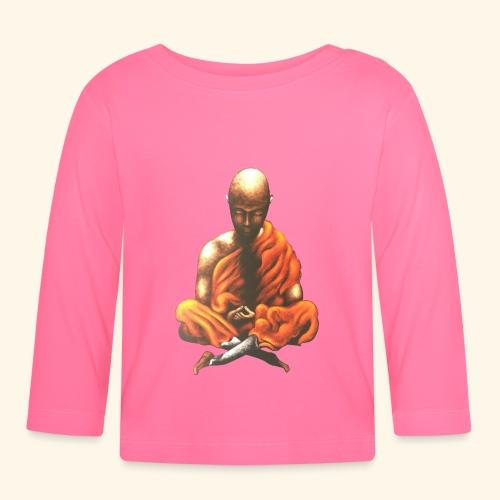 Yoga Meditation Spiritueller Buddhistischer Mönch - Baby Langarmshirt