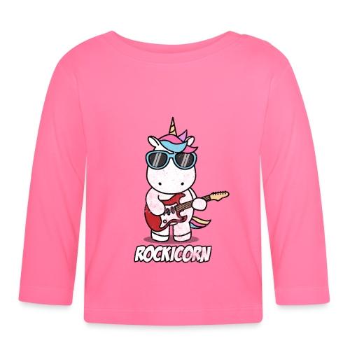 Rockicorn Rock n Roll Unicorn Einhorn Geschenkidee - Baby Langarmshirt