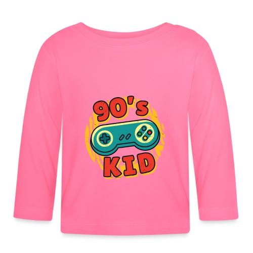 90s Kid Kinder der 90er Jahre Gaming - Baby Langarmshirt