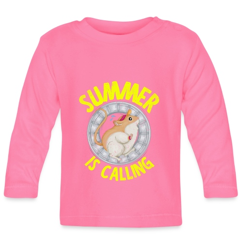 Hamster Laufrad Summer is calling - Baby Langarmshirt