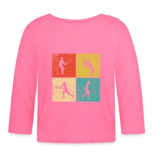 Tennis Tennisspieler Retro Geschenk - Baby Langarmshirt