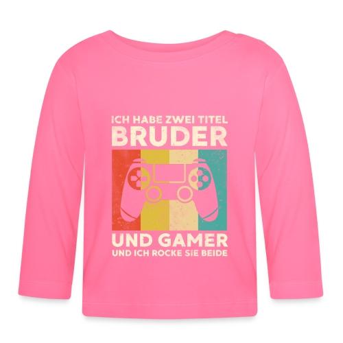 Bruder Gamer Gaming Junge Geschenk Sohn - Baby Langarmshirt