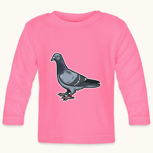 Bande dessinée Oiseau drôle Idée cadeau Pigeon voyageur - T-shirt manches longues Bébé