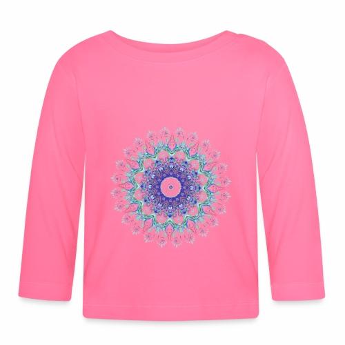 Lilla mandala pastel - Langærmet babyshirt