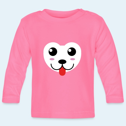 Husky perro bebé (baby husky dog) - Camiseta manga larga bebé