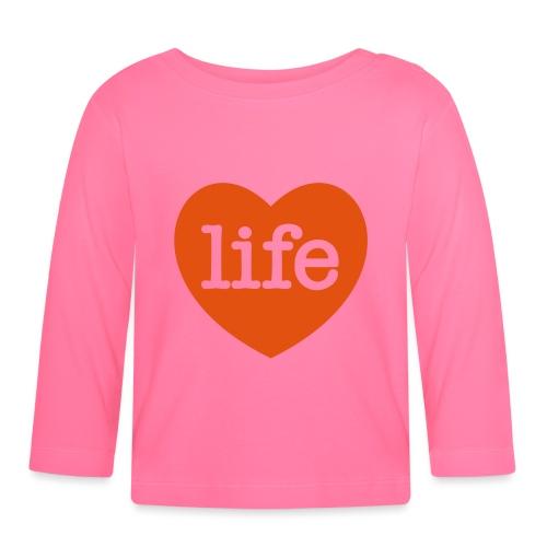 LOVE LIFE heart - Baby Long Sleeve T-Shirt