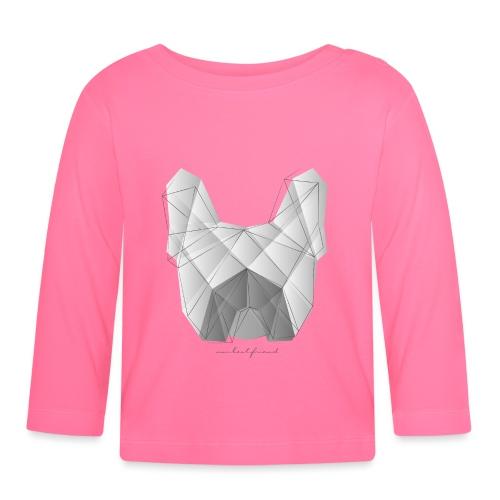 Geometric Frenchie white - Französische Bulldogge - Baby Langarmshirt