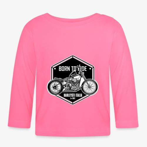 Born to Ride - Vintage motorbike - Maglietta a manica lunga per bambini