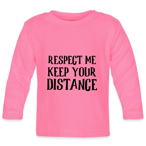 Keep Distance - Langærmet babyshirt