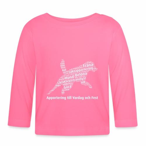 Apportering till vardag och fest wordcloud vitt - Långärmad T-shirt baby