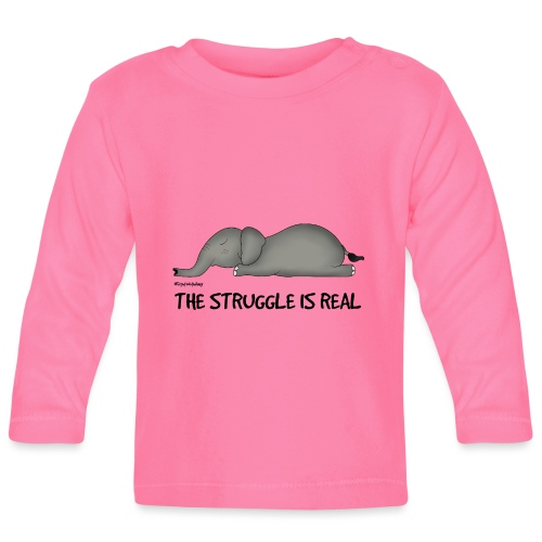 Amy's 'Struggle' design (black txt) - Baby Long Sleeve T-Shirt