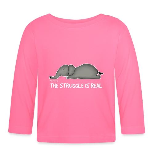 Amy's 'Struggle' design (white txt) - Baby Long Sleeve T-Shirt