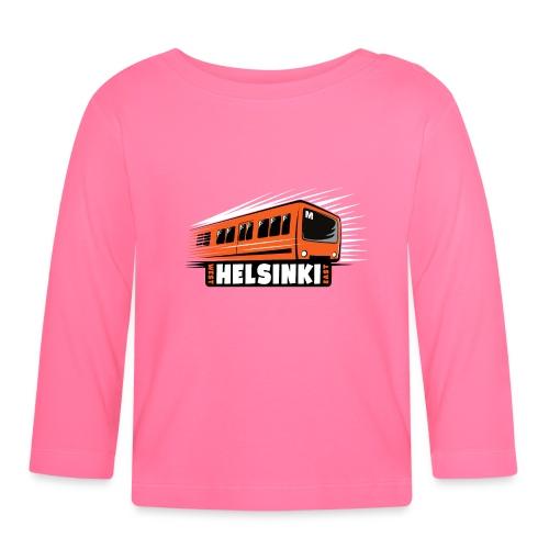 Helsinki Metro T-Shirts, Hoodies, Clothes, Gifts - Vauvan pitkähihainen paita