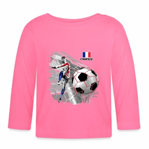 FP22F 03 FRANCE FOOTBALL - Vauvan pitkähihainen paita