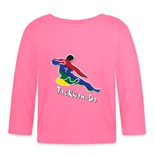 Taekwondo Flying Kicking-man - Baby Long Sleeve T-Shirt