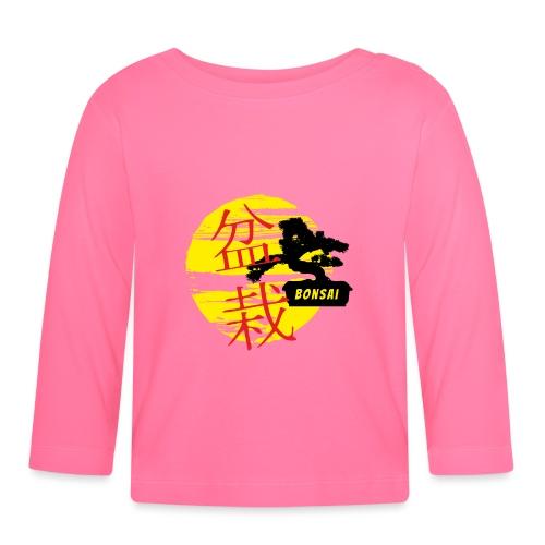 Bonsai fan - Koszulka niemowlęca z długim rękawem