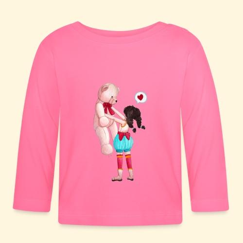Fille au Nounours géant - T-shirt manches longues Bébé