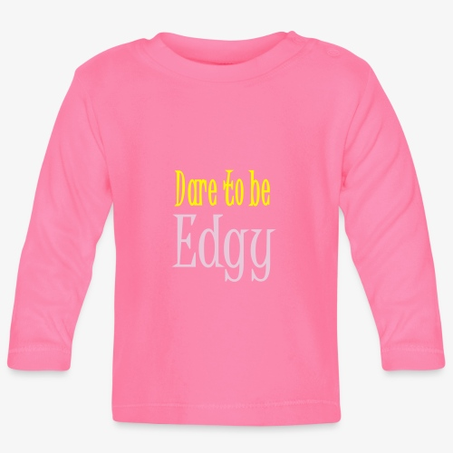 Edgy Glam Typography t-shirt design by patjila - Baby Long Sleeve T-Shirt