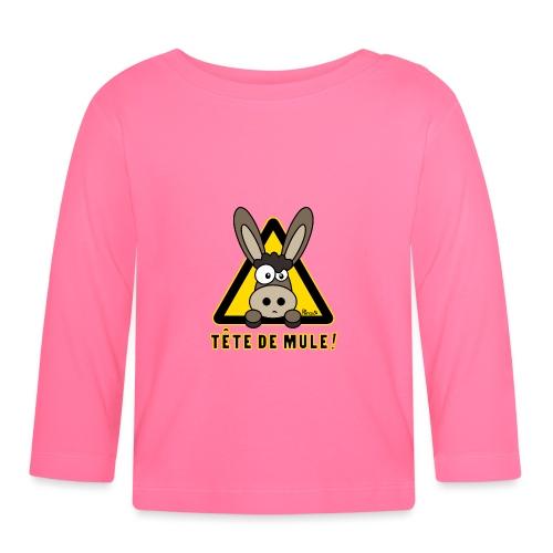 Âne, Tête de mule, tetu - T-shirt manches longues Bébé