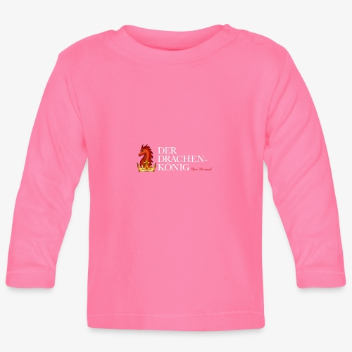 Drachenkönig Logo Schrift - Baby Langarmshirt