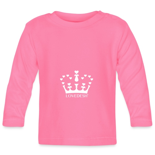 White Lovedesh Crown, Ethical Luxury - With Heart - Baby Long Sleeve T-Shirt