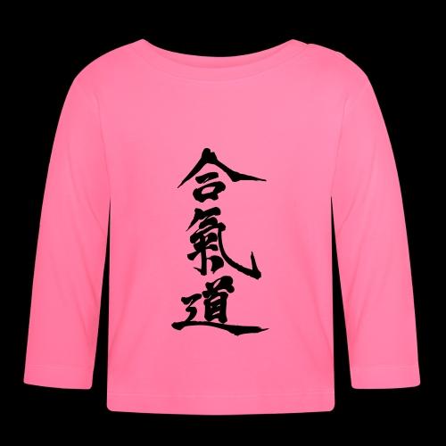 aikido_wektor - Koszulka niemowlęca z długim rękawem