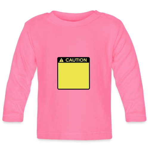 Caution Sign (2 colour) - Baby Long Sleeve T-Shirt