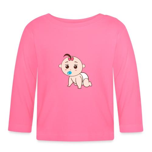 Liegendes Baby - Baby Langarmshirt